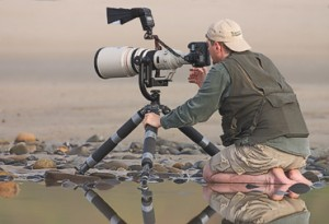 Photographer With Big Lense