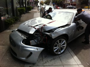 Badly Damaged Car