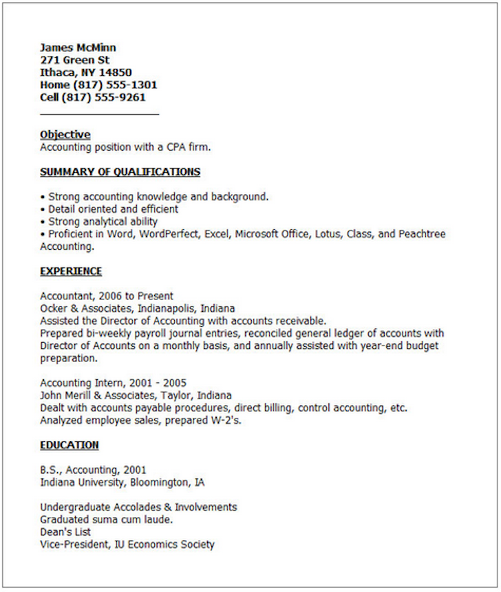 Superior Bad Resume Example  How To Do A Great Resume