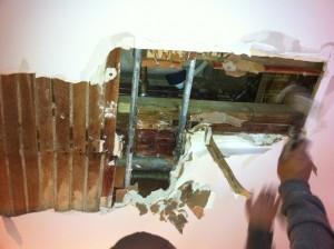 Hole In Ceiling Water Leak