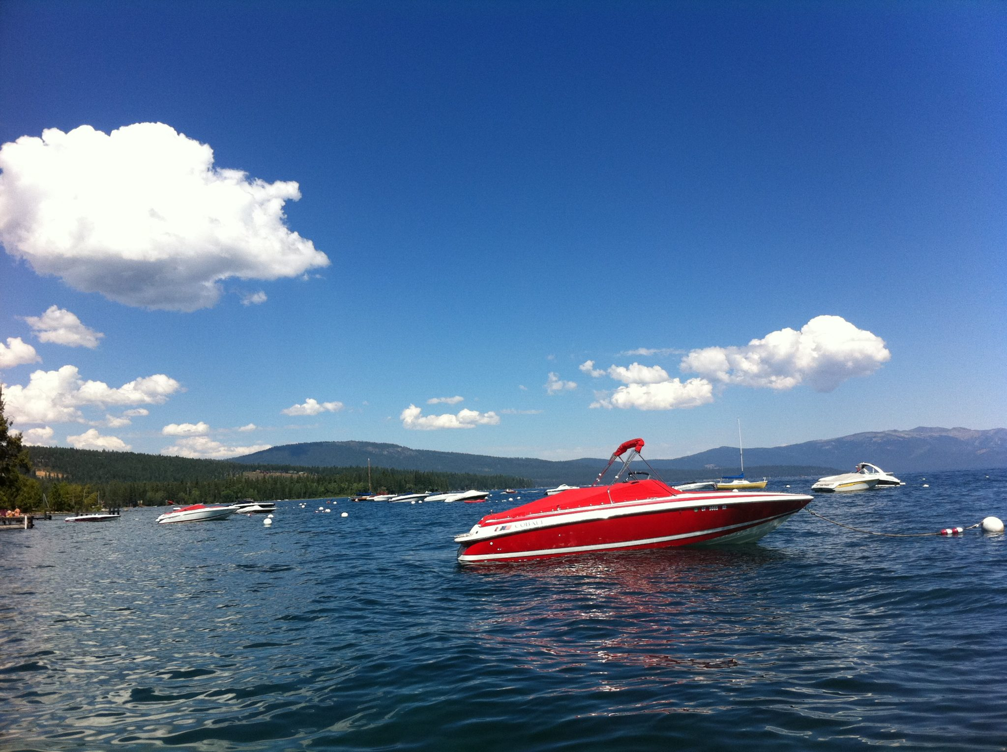 Red Boat on Lake Tahoe
