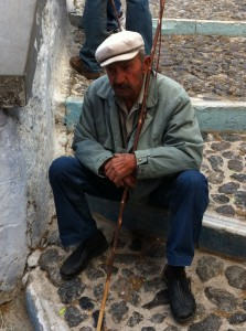 Old Man In Santorini