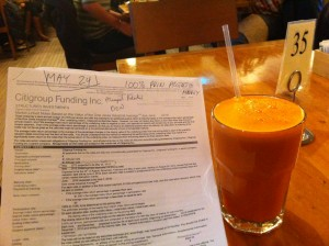 Structured Note With Carrot Apple Juice