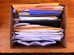 Box Of Mortgage Papers