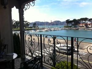 Balcony overlooking Bay