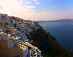 Fiscal Cliff Of Santorini, Greece