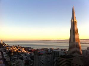 San Francisco Sunset TransAmerica Building
