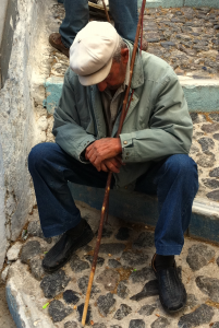 Resting Old Man Of Santorini