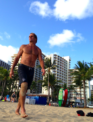 Laird Hamilton posing for me, FS, Oahu, 2013