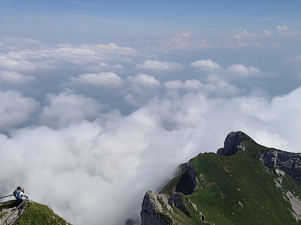 Top of Mt. Pilatus Overlooking Clouds