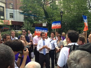 Anthony Weiner Speaking At Rally In NYC