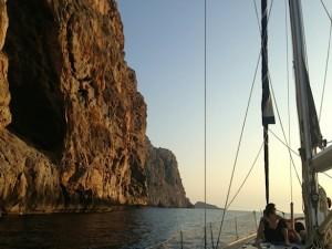Sailing At Sunset In Mallorca