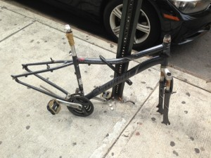Stripped down bike with nothing left