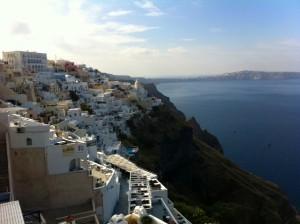 Rental Property On Santorini Cliff