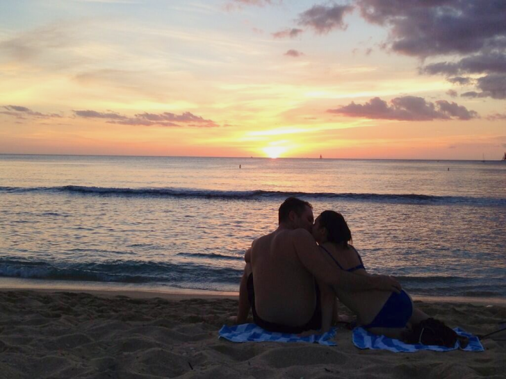 Kissing During Sunset