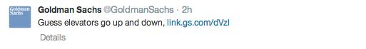 GS Elevator Tweet Response