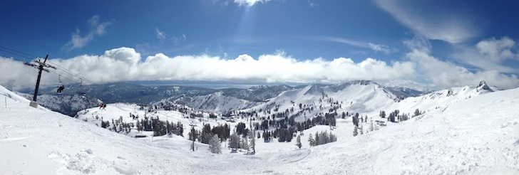 Squaw Valley USA, Lake Tahoe Panorama Winter Time
