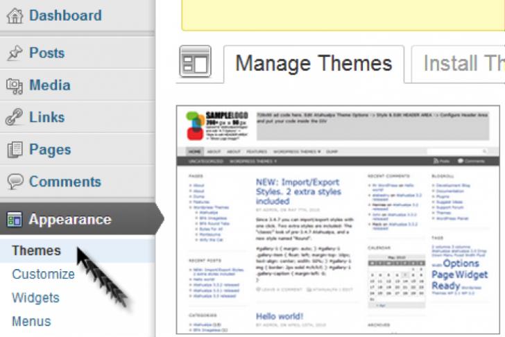 Wordpress Themes Selection