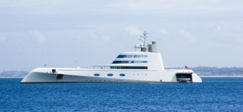 A top 0.01% income earner's yacht