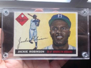 Jackie Robinson baseball card 1956 Topps