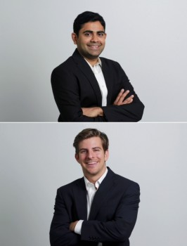 Founders of Sliced Investing. Top: Akhil Lodha. Bottom: Mike Furlong