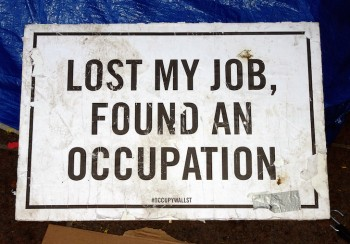Overqualified For A Job, Occupy Wall Street
