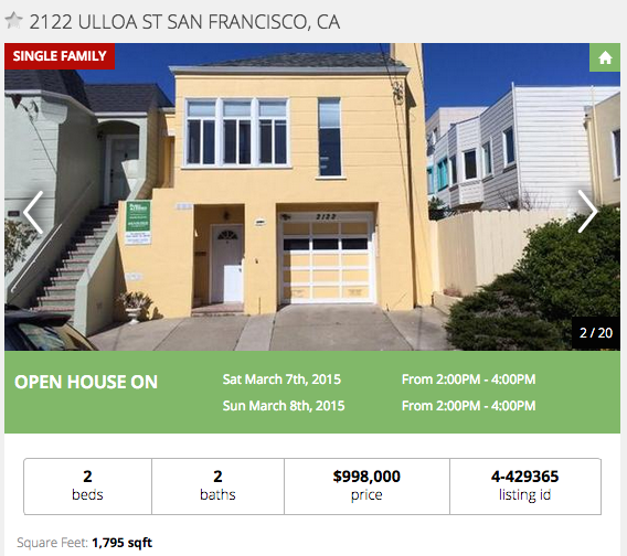 Median Priced Home In SF