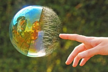 Stock Market and Real Estate Market Bubble Popping