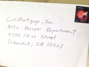 Mortgage Payoff Letter Sent