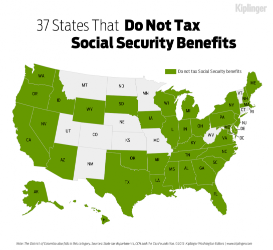 States That Don't Tax Social Security Benefits