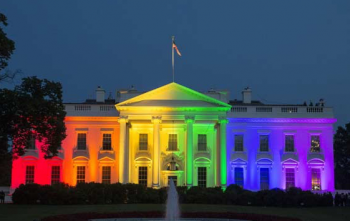 White House In Rainbow Colors Celebrating Gay Marriage