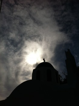 Greek Crisis, Santorini Church