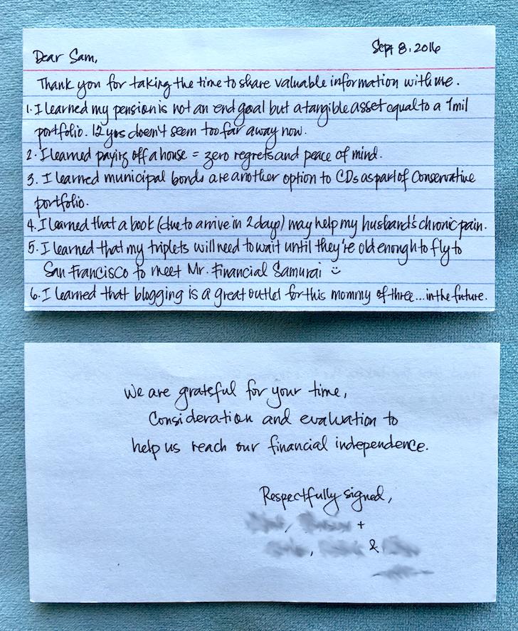 Financial Samurai Consulting Letter