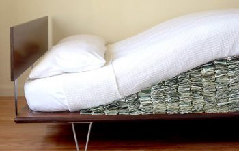 Cash under mattress