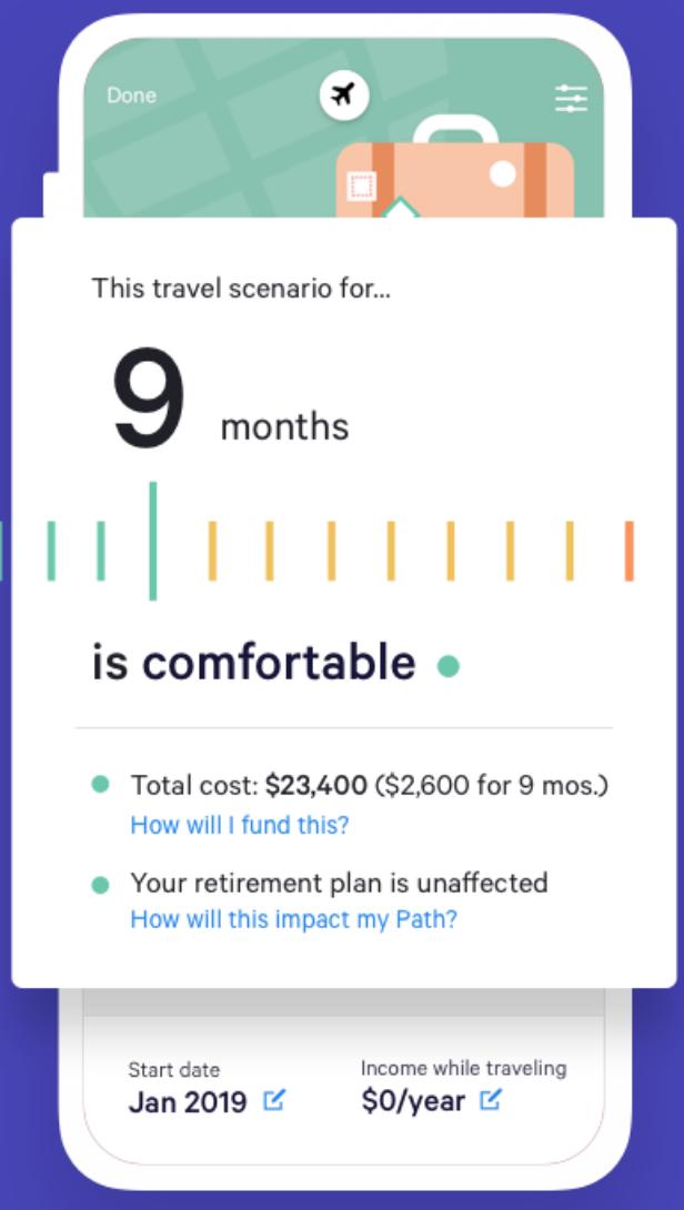 Wealthfront Travel Tool