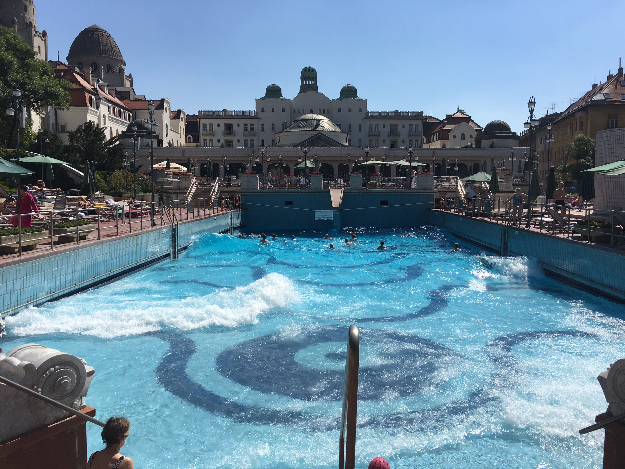 Turkish wave pool Gellert Hotel