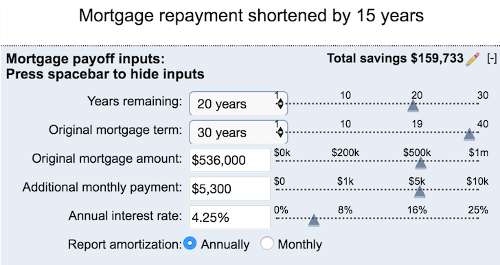 5-Year Mortgage Pay Down Plan