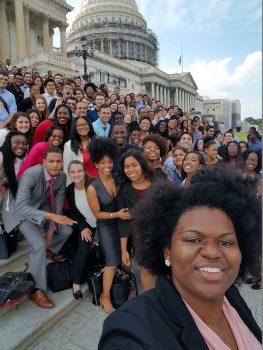U.S. Rep E.B. Johnson selfie