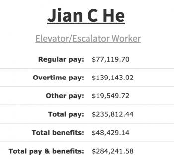 Escalator Worker Pay