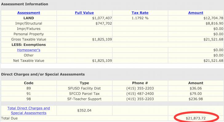 Property Tax Bill Example