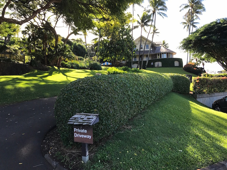 Punahou President's house right on campus