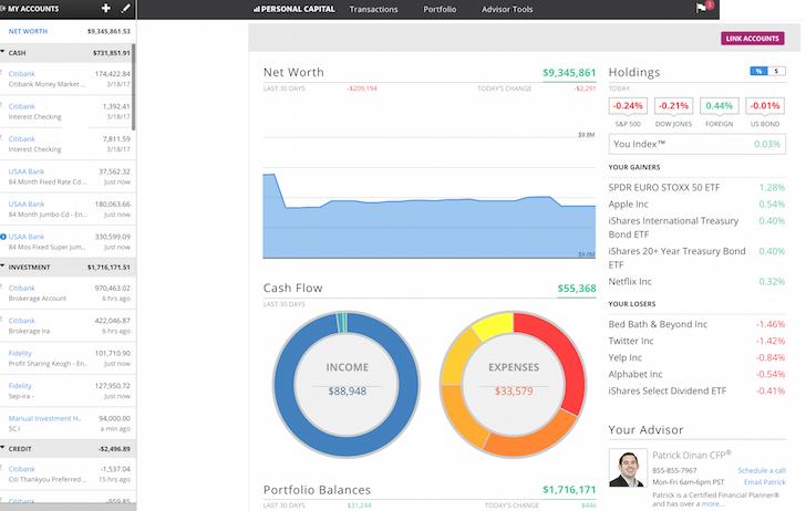 Personal Capital Free Financial Tools