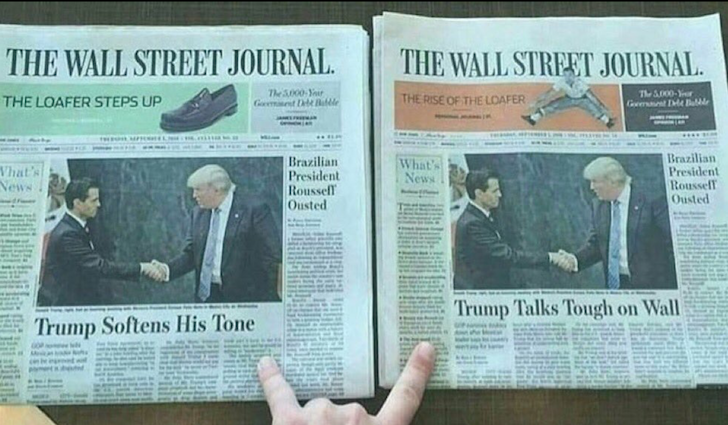 Example of fake news