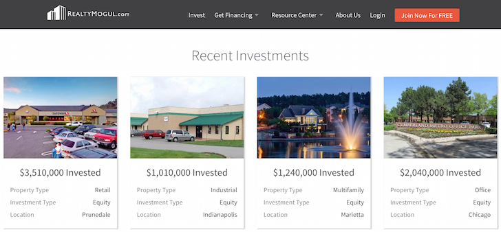 Realty Mogul Investment Examples