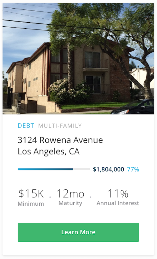 RealtyShares LA Investment