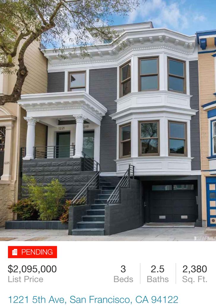 San Francisco property pending