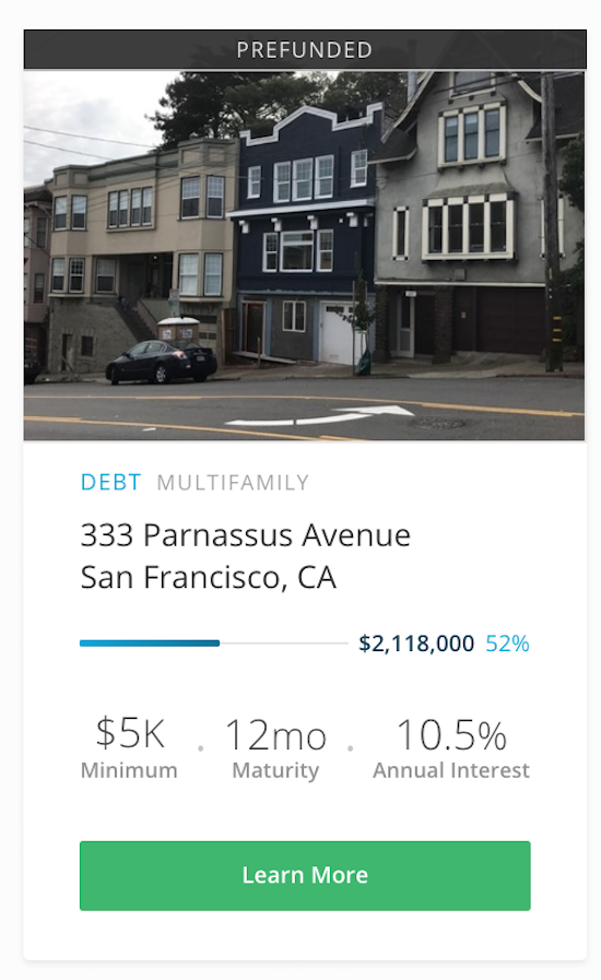 RealtyShares Investment in San Francisco