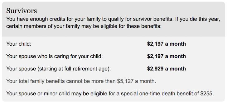 Financial Samurai Social Security Survival Benefits