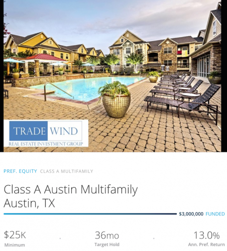 RealtyShares Austin Multi-family Investment