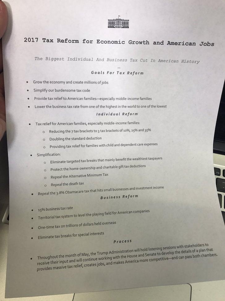 Trump Tax Agenda 2017